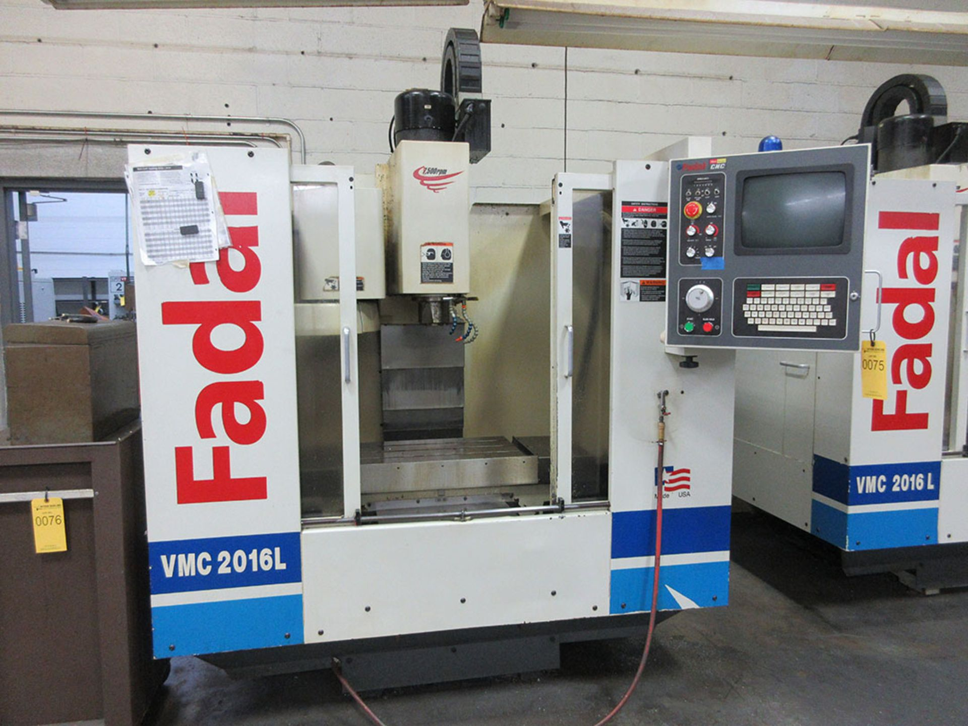 Lot 19 - 2000 FADAL VMC 2016L CNC Vertical Mill Machining Center