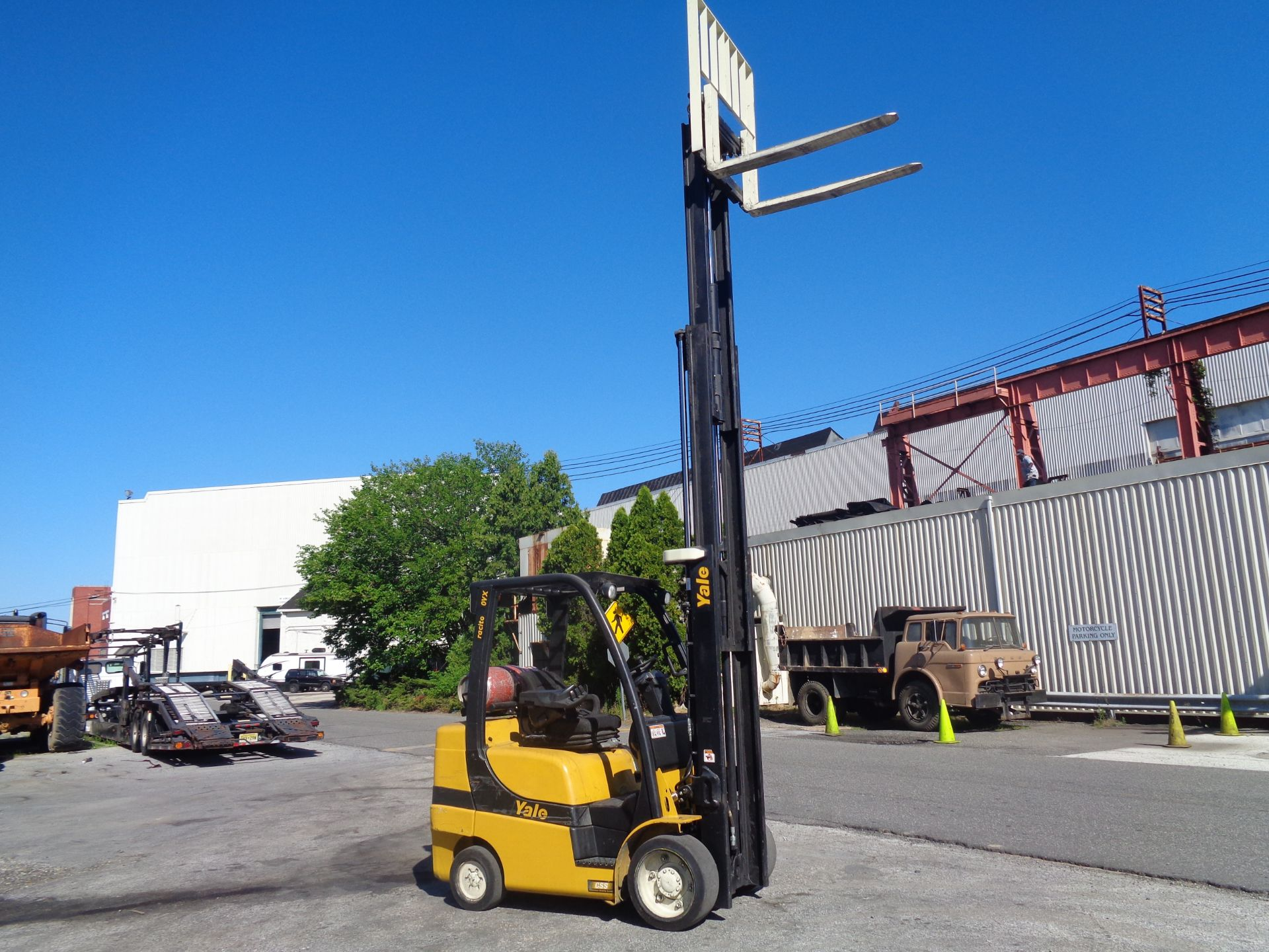 2014 Yale GLC070VXNGSE088 7,000 lbs Forklift - Image 8 of 12