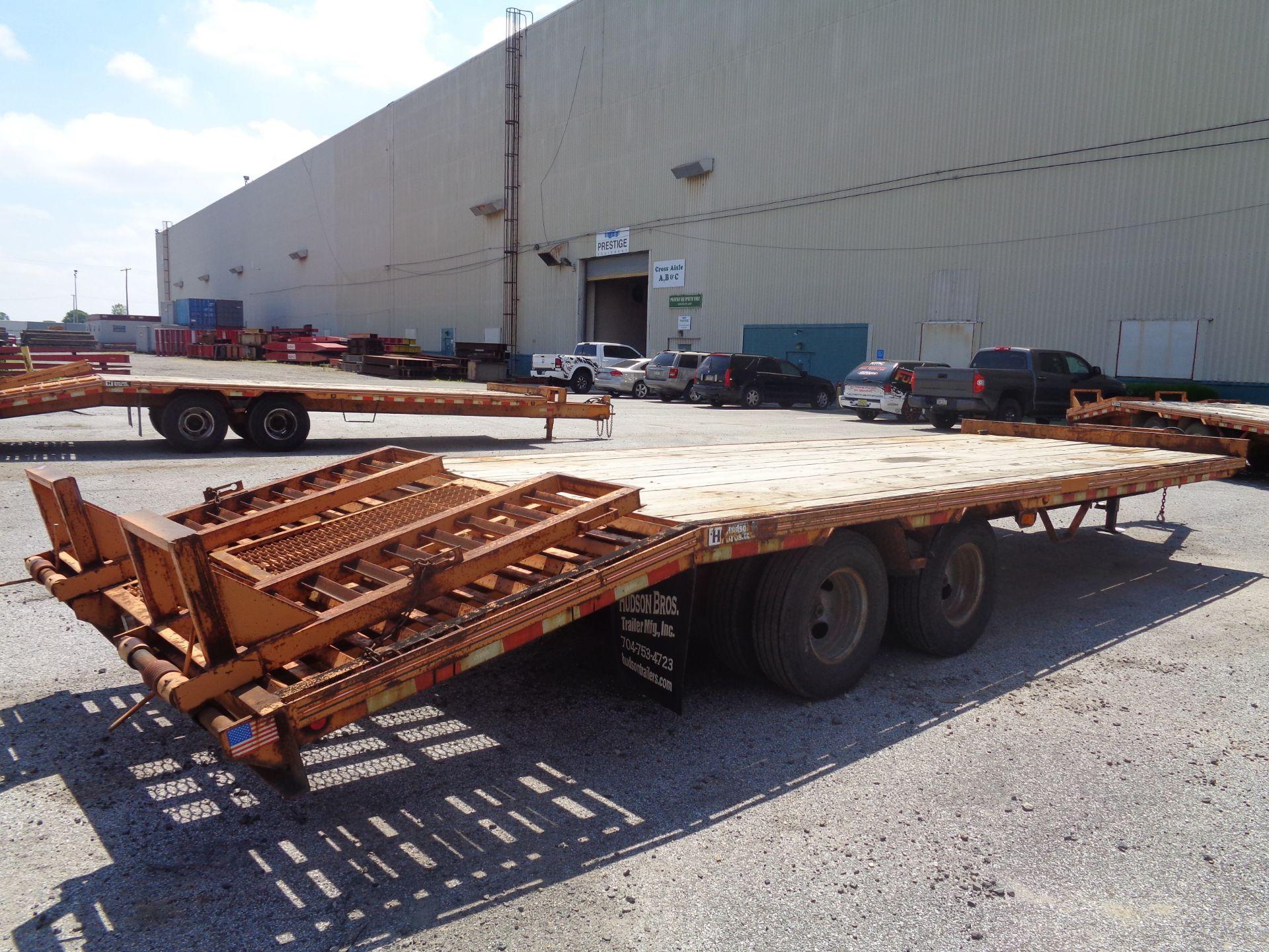 Lot 15 - 2009 Hudson Bros Trailer HTD18D- 10 Ton- 20FT Equipment Flat Bed