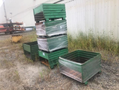 Lot of 6 Steel Bins