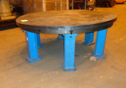65 in T Slotted Face Plate Steel Table