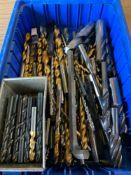 Assorted HSS drills, end mills