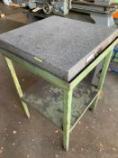 """Tru-Stone Corp Granite surface plate, Grade A, 24""""x24"""" on stand, s/n: 15557 We have quoted $20 for a"""