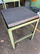 """Granite surface plate 24""""x24"""" with stand We have quoted $20 for a basic lift and load of this machin"""