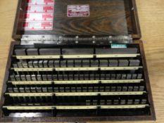 Starrett Weber Gauge Block Set, .1001 to 4.000, Steel Grade 2