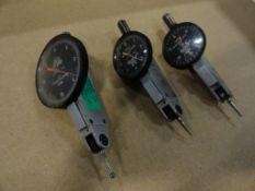(3) Browne and Sharpe BesTestjeweled indicators, .00005, .0001, .001
