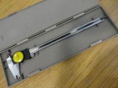 Mitutoyo dial caliper, no. 505-673, .02mm increments, 300mm range, shock proof