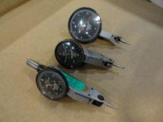 (3) Browne and Sharpe BesTest jeweled indicators, .00005, .0001, .001