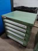 5-drawer heavy duty ball bearing drawer cabinet, approximate 30 x 28 x 33 inches