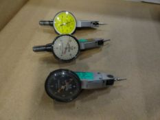(3) Browne and Sharpe BesTest jeweled indicators, .0001, .001 inch and .002mm