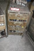 (2) Metal Cabinets w/ Contents: Various Tool Holders, Boring Bars, Chuck Jaws, Lathe Centers, Etc.