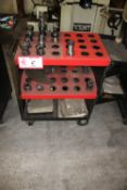 Tooling Cart w/ (18) Cat40 Tool Holders w/ Various Tooling