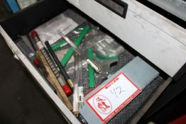 (2) Shelves to Include: Carbide End Mills , Metric Keyway Brooches, Drill Sent, Various Drills