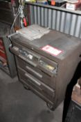 Kennedy Tool Box w/ Misc. Parts & Tools to Include: Index Cutters, Tool Bits, Rethreading Dies,