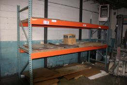 """(1) Section Pallet Racking - 12' x 42"""" x 96"""""""