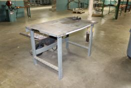 (2) Work Tables - (1) Metal and (1) Wood