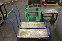 (3) Shop Carts and (2) 2 Wheel Dolly/ Carts