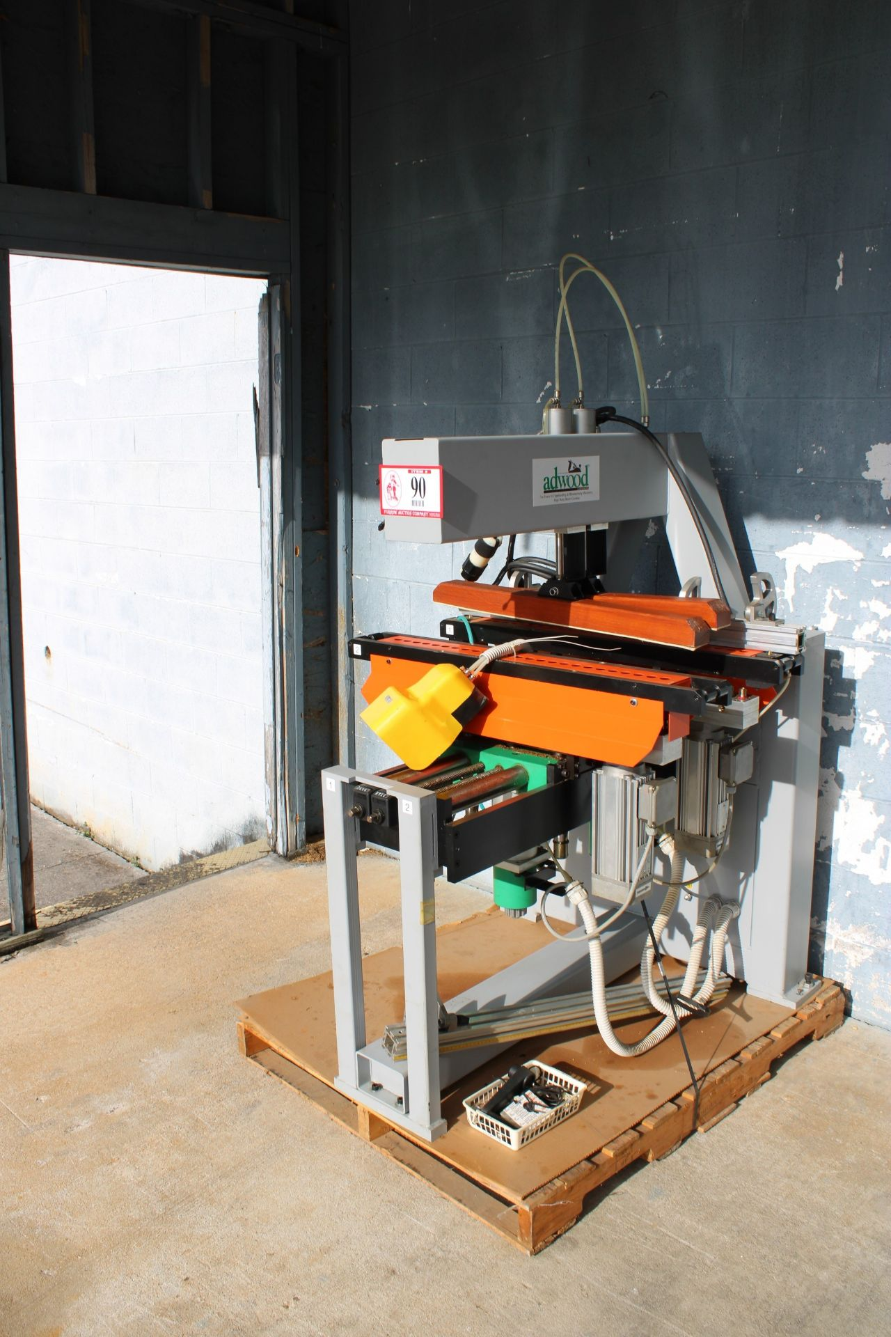 Adwood Detel M-2H-M 35 Double Boring Machine Press, 230v 3 Phase, Purchased New and Used Less Than