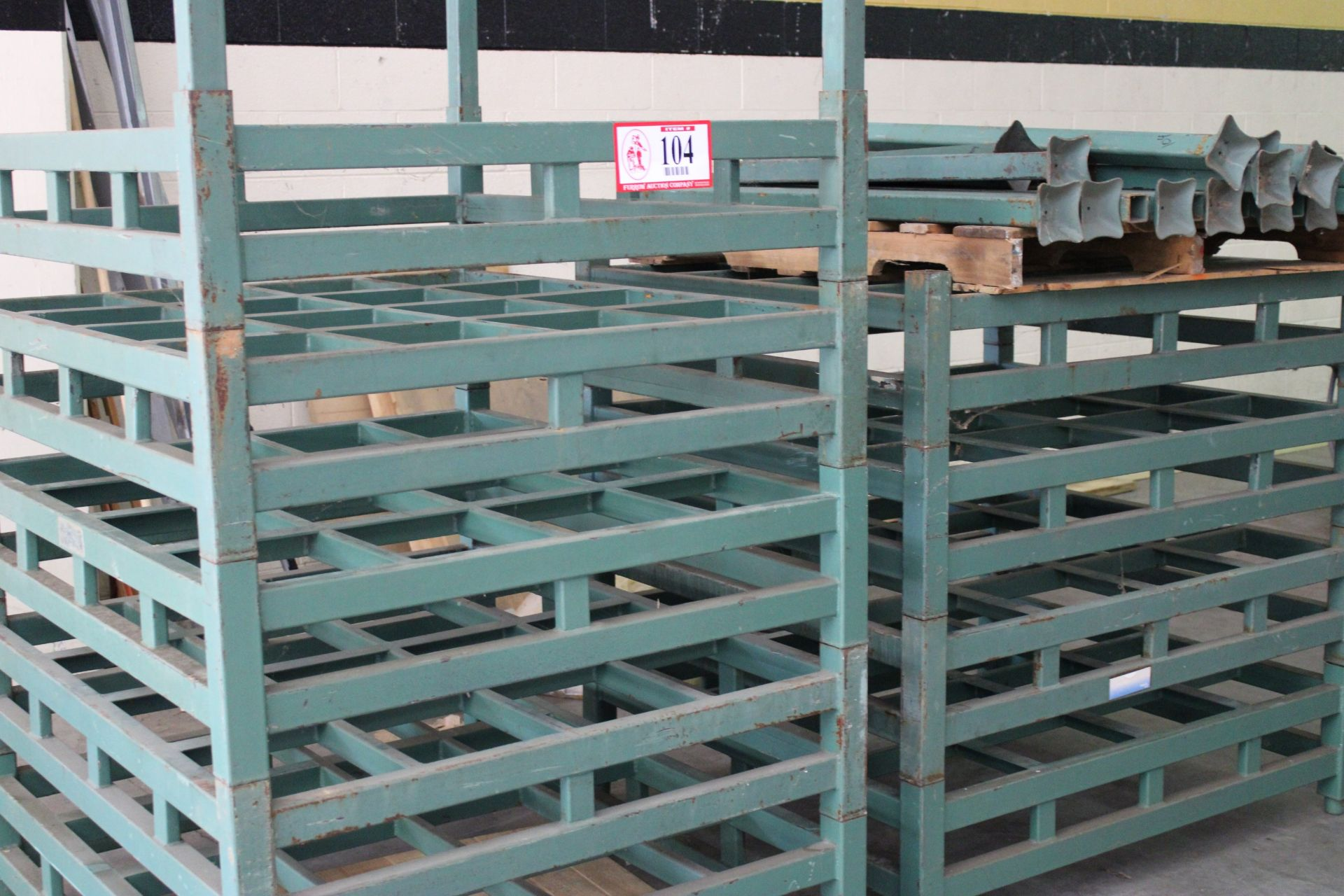 """QTY 11 -Derick-China Steel Stacking Racking, 5ft - 52"""" x 45"""" w/ Stacking Posts, Designed to hold two - Image 3 of 3"""