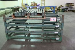 "QTY 5 -Dereck-China Steel Stacking Racking, 8ft - 78"" x 44"" w/ Stacking Posts, Designed to hold"