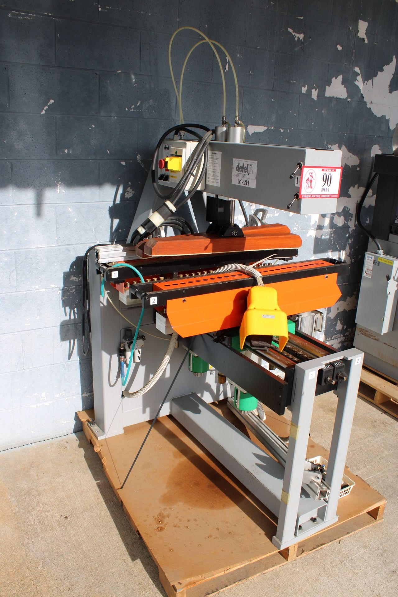 Adwood Detel M-2H-M 35 Double Boring Machine Press, 230v 3 Phase, Purchased New and Used Less Than - Image 2 of 2