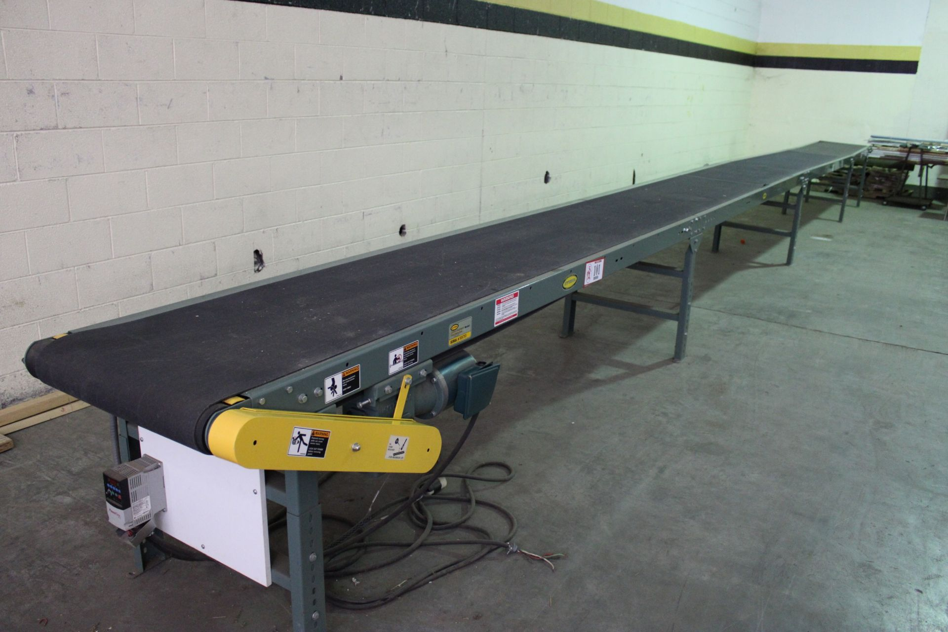 Hytrol Model TA 37ft Power Conveyor, 230 v 3 Phase, New, Used less than 100 hours, Variable speed to - Image 5 of 5