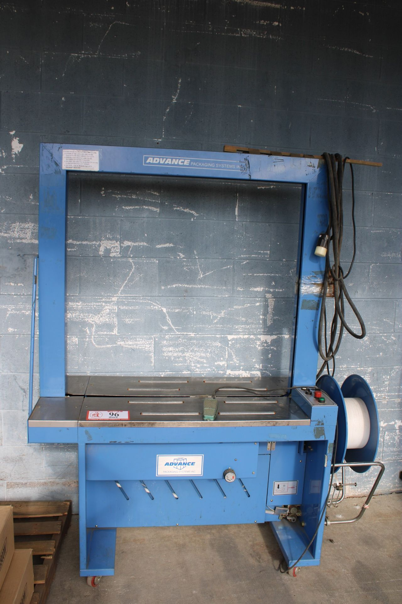 """Advance Packaging Arch Carton Strapper, 40""""- 42"""" Opening, Used, Ready to wire and use with table - Image 2 of 3"""