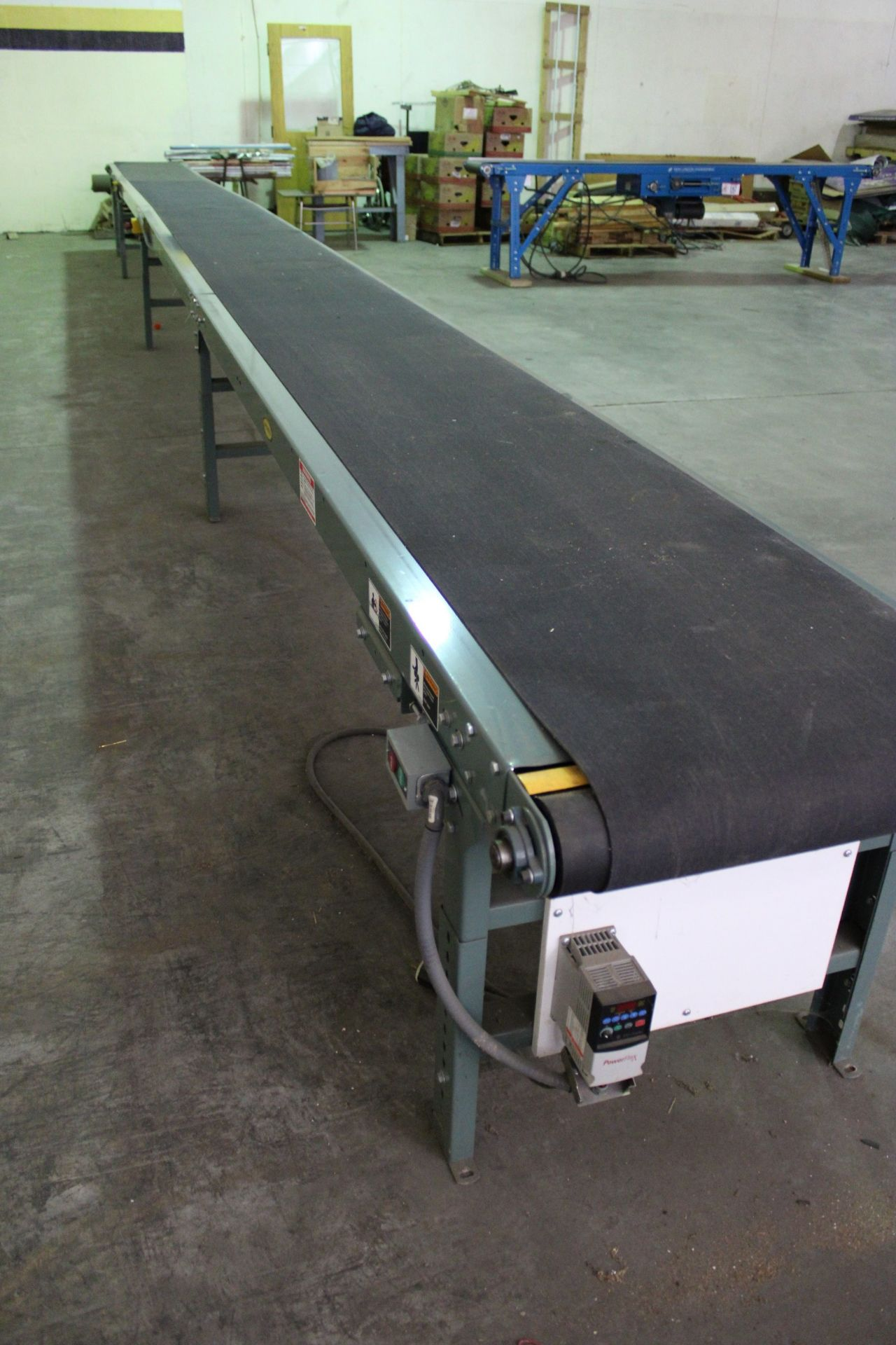 Hytrol Model TA 37ft Power Conveyor, 230 v 3 Phase, New, Used less than 100 hours, Variable speed to - Image 4 of 5