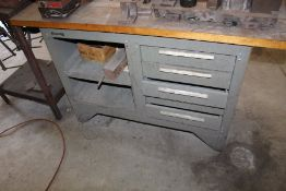 Kennedy 5 Drawer Table & Contents: Various Angle Plates, V-Blocks