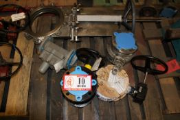 """Contents of Pallet: (1) 12"""" Gate Valve, 8"""" Butterfly Valve, Diaphragm Valve, (1) Stainless Steel"""