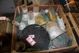 Contents of Crate: Various Pipe Fittings, Stainless Steel PVC, Metal, Pipe Caps, Nipples, 45's,