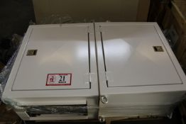 (2) Custom Built Single Door Electric Cabinets w/ Switches