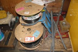 Contents of Pallet: (2) Barrel Clamps, (3) Partial Spools/Zero AWG Wire