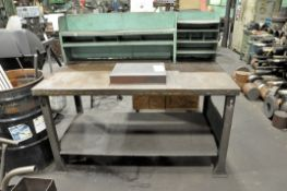 Lot-Shop Desk and Bench with Contents