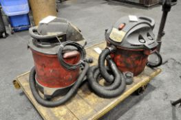 Lot-(2) Shop Vacuums with Hoses, (Cart Not Included)