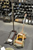 Lot-(1) Approximately 2-Ton Hydraulic Floor Jack and (1) Paint Line Striper
