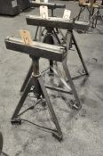 Lot-(3) Roller Stock Feed Stands, Adjustable Height