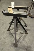 Lot-(2) Roller Stock Feed Stands, Adjustable Height