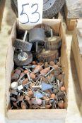 Lot-Flapper Wheels and Die Grinding Stones in (1) Box