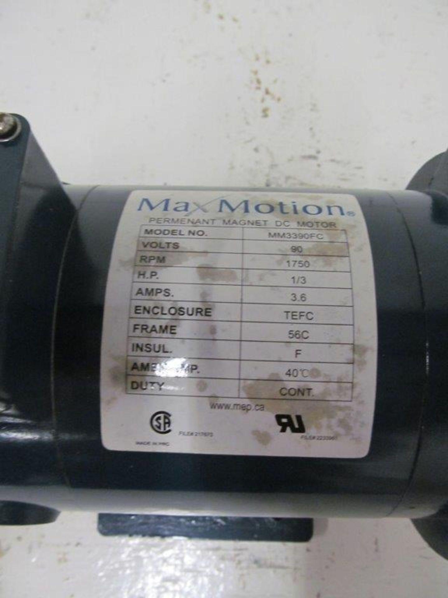 Lot 65 - MAX MOTION DC MOTOR, MODEL MM3390FC, 90V, 1/3HP, RPM 1750 - LOCATION, HAWKESBURY, ONTARIO