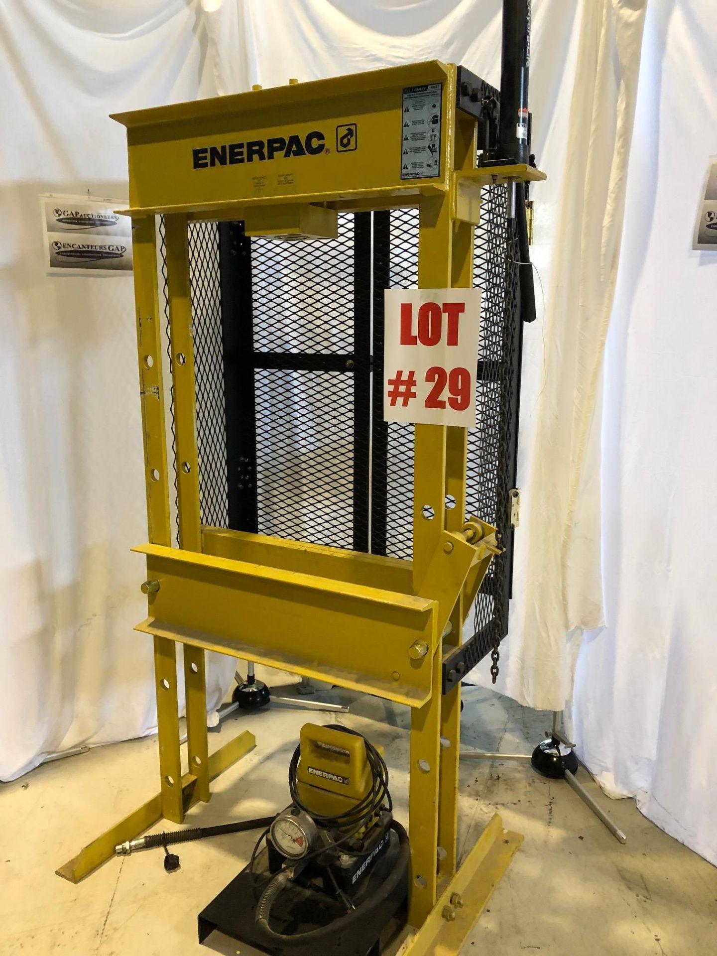 ENERPAC SHOP PRESS, MODEL C215900, S/N E119C, 15 TON - LOCATION, MONTREAL, QUEBEC - Image 2 of 5