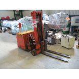CLARK ELECTRIC LIFT STACKER, MODEL 15TTF, S/N TTF25EC 175, 1500LB CAPACITY