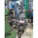 NANTONG VERTICAL MILLING MACHINE, MODEL F-1, S/N 6361, R8, 9'' X 42'' TABLE