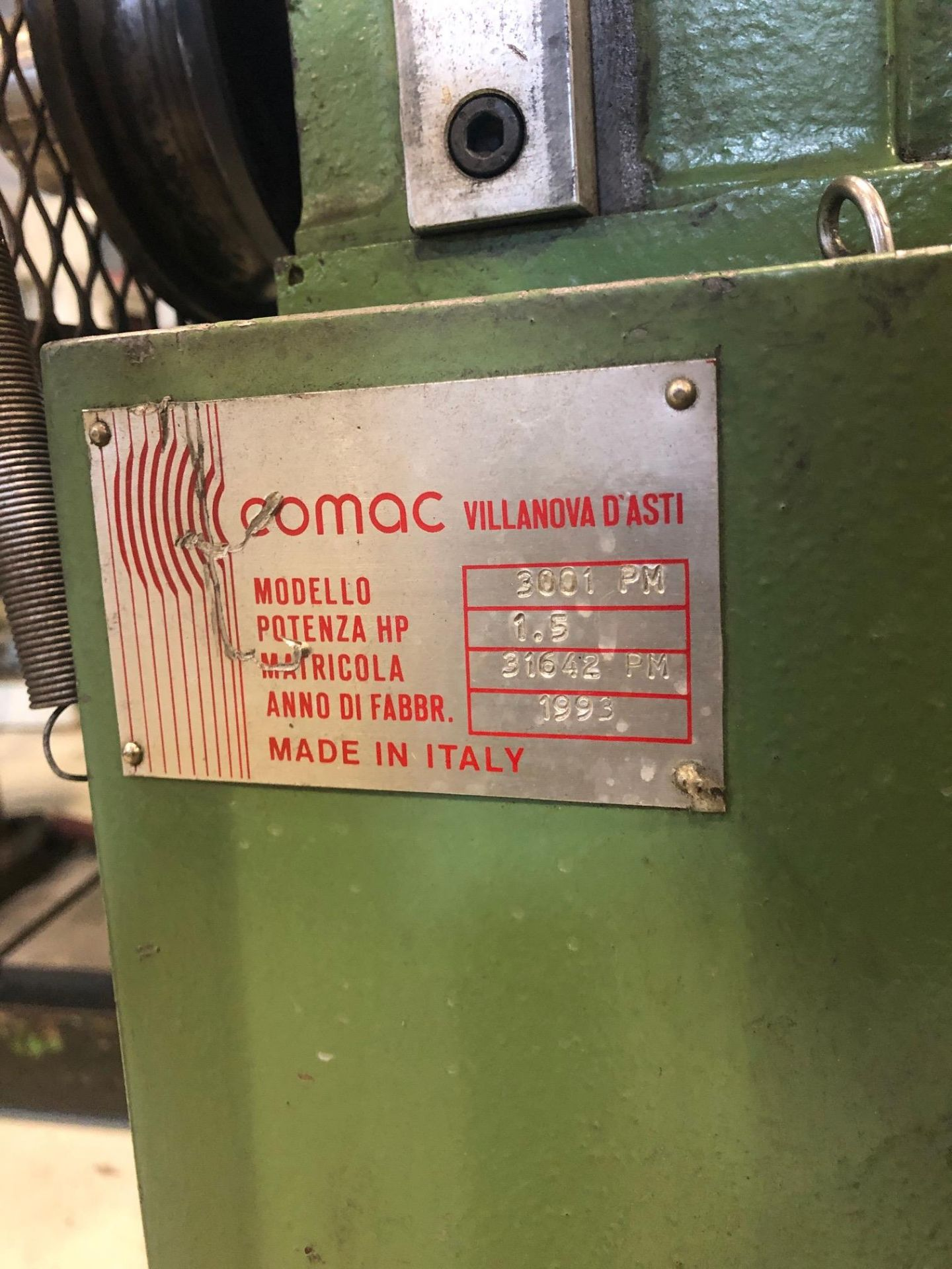 """COMAC ANGLE ROLL, MODEL 3001-PM, S/N 31642PM, 1 3/8""""-5/32"""" - Image 4 of 4"""