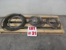 (1) LOT ASSORTED STEEL CABLE - LOCATION - HAWKESBURY, ONTARIO