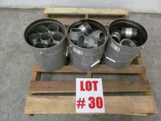 (1) LOT ASSORTED THREADED GALVANIZED COUPLINGS, 3'' X 3 1/2'' - LOCATION - HAWKESBURY, ONTARIO