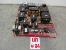(1) LOT ASSORTED PROBABLY COPPER COILED, C/W ELECTRICAL SWITCHES - LOCATION - HAWKESBURY, ONTARIO