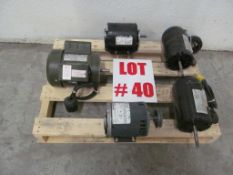 LOT (5) ASSORTED ELECTRICAL MOTORS - LOCATION - HAWKESBURY, ONTARIO