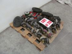 (1) LOT ASSORTED HEAVY DUTY CASTERS - LOCATION - HAWKESBURY, ONTARIO