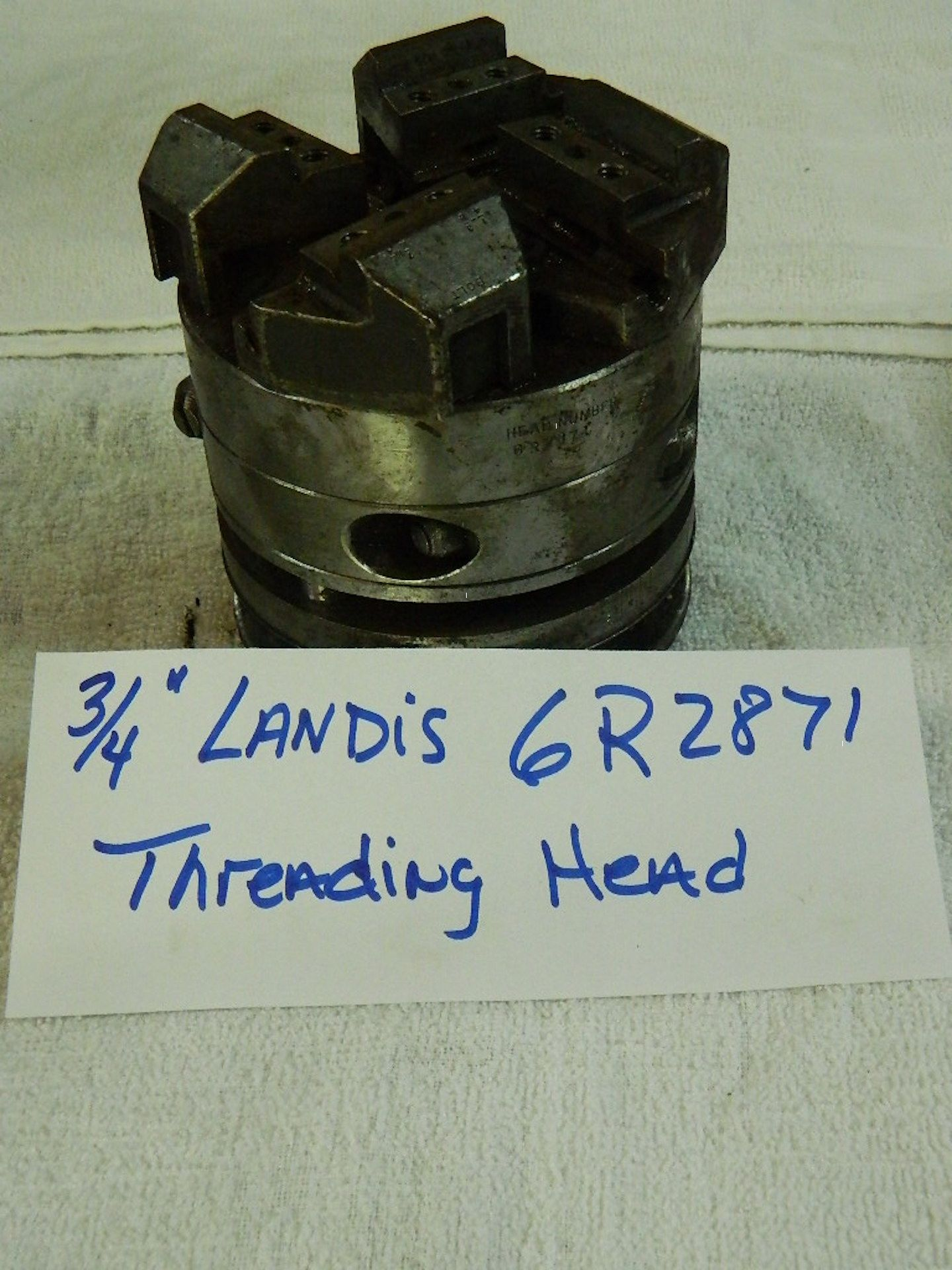 "3/4"" LANDIS BOLT THREADING HEAD, SER#6R2871"